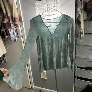 AEO Soft And Sexy Bell Sleeve Top